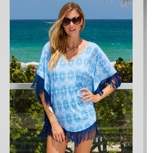 Cabana Life Moroccan Tile Tunic Cover Up 50+ UPF L